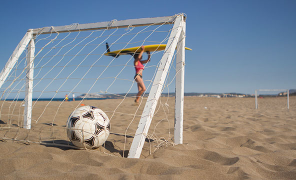 strand fodboldt